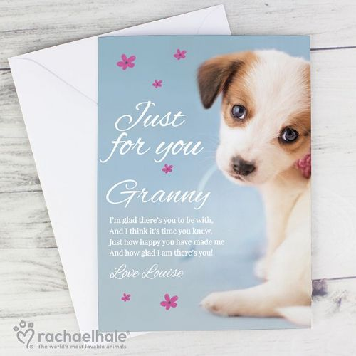 Rachael Hale 'Just for You' Puppy Card